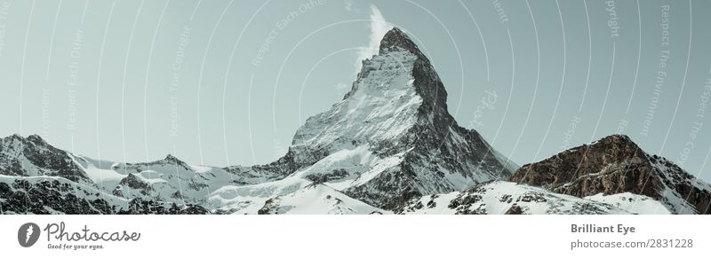 protrusion Vacation & Travel Winter Mountain Nature Landscape Wind Snow Alps Matterhorn Exceptional Threat Free Blue Uniqueness Center point Power Environment