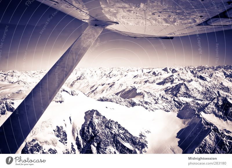 Alps Winter Snow Winter vacation Mountain Motorsports Pilot Machinery Art Flying Emotions cessna 152 150 Innsbruck Austria Boeing Airbus alps Ötz Valley