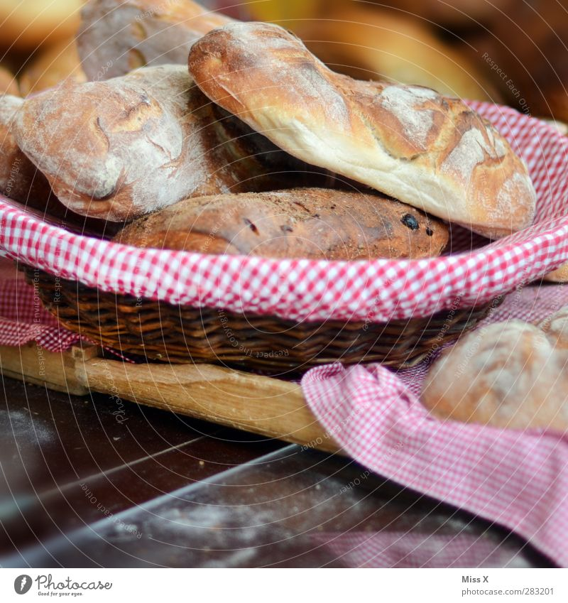 small basket Food Dough Baked goods Bread Roll Nutrition Breakfast Lunch Dinner Bowl Fresh Delicious Baguette Basket Checkered Baker Crusted bread Flour