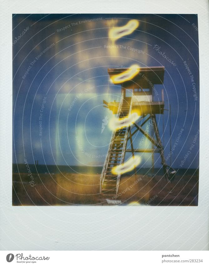 Sky Blue Landscape Grass Stairs Tower Manmade structures Shaft of light Lookout tower