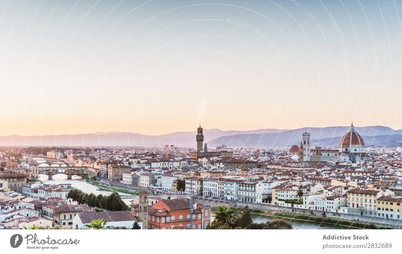 View of old city Skyline Famous building Ancient Attraction Destination Landscape heritage medieval Culture Landmark Architecture Mountain Historic Town