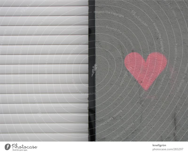 City Black Love Graffiti Wall (building) Emotions Gray Wall (barrier) Pink Facade Heart Dirty Sign Infatuation Disk Roller shutter