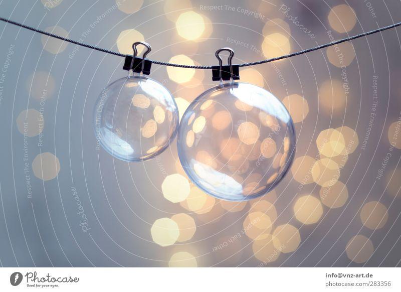 Xmas Christmas & Advent Feasts & Celebrations Sphere Light Moody Jewellery Christmas decoration Glitter Ball Blur Shallow depth of field Interior shot Modern