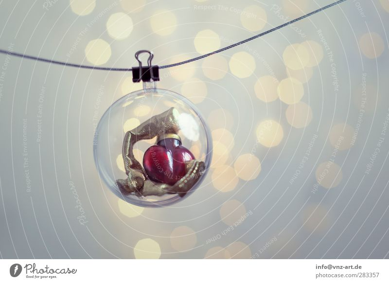 Xmas Christmas & Advent Feasts & Celebrations Sphere Light Moody Jewellery Christmas decoration Glitter Ball Blur Shallow depth of field Interior shot Modern