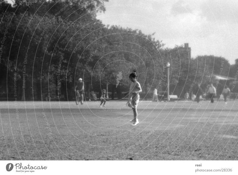 Woman Girl Jump Playing Park