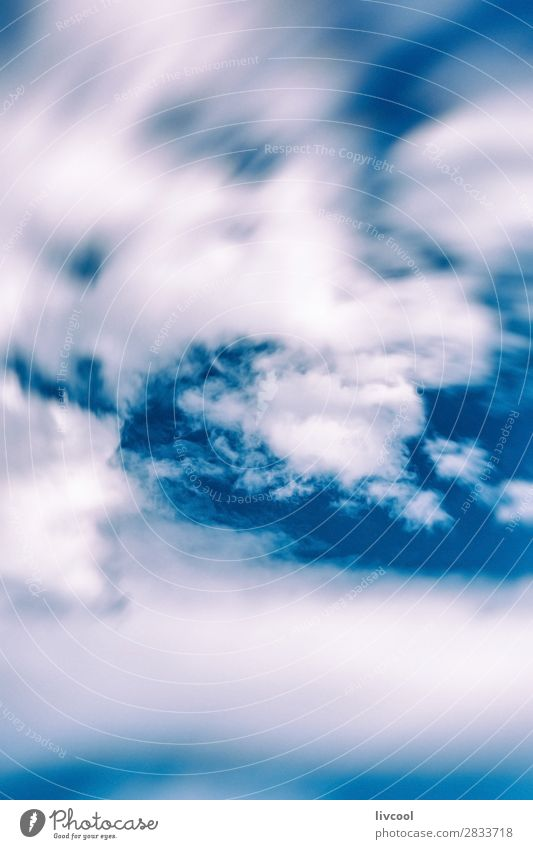 defocused clouds over blue sky Happy Nature Landscape Sky Clouds Spring Climate Weather Flock To enjoy Authentic Fantastic Curiosity Cute Blue White Emotions