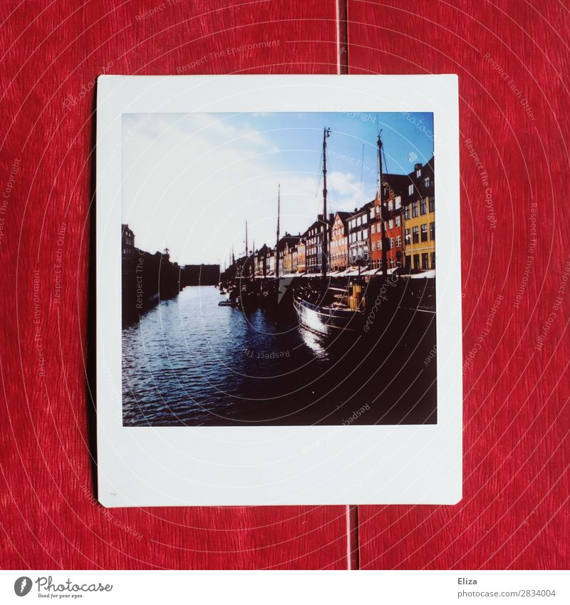 Nyhavn Copenhagen Denmark House (Residential Structure) Beautiful Harbour Channel Water Multicoloured Contrast Watercraft Nyhavn canal Sky Sun Polaroid