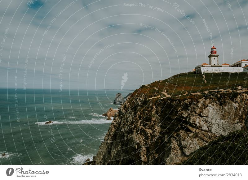 Lighthouse on cliff at Cabo da Roca, Portugal Vacation & Travel Tourism Adventure Ocean Waves Landscape Earth Coast Atlantic Ocean Europe beauty in nature epic