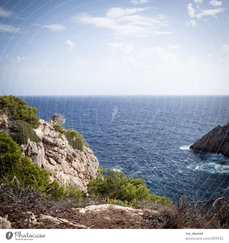 Small bay Vacation & Travel Tourism Trip Far-off places Summer Environment Nature Landscape Elements Water Sky Horizon Plant Bushes Rock Coast Bay Ocean Majorca
