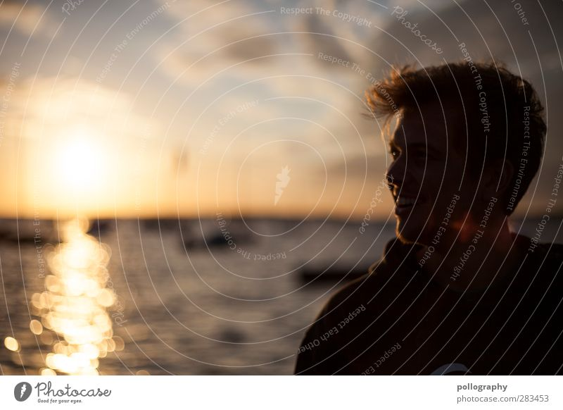 The shadow side of light Vacation & Travel Tourism Far-off places Freedom Summer Summer vacation Sun Sunbathing Ocean Waves Human being Masculine Young man