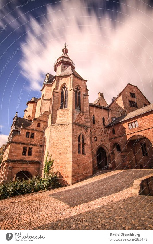 Marburg Castle Vacation & Travel Tourism Sightseeing Sky Clouds Spring Summer Autumn Beautiful weather Old town Palace Tower Manmade structures Building