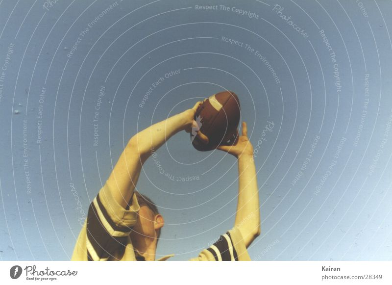 got it! American Football Catch St. Michael's Church Summer Human being paul football Sky Martin Ball