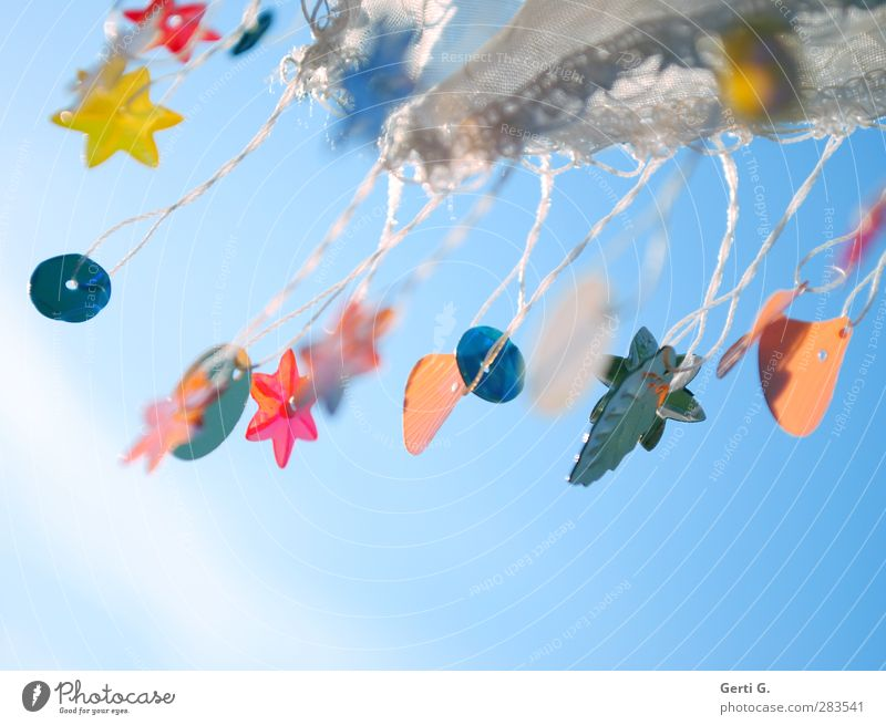 blowy Decoration Kitsch Odds and ends Sign Movement Flying Hang Uniqueness Many Blue Multicoloured Emotions Moody Happiness Contentment Flexible Orderliness