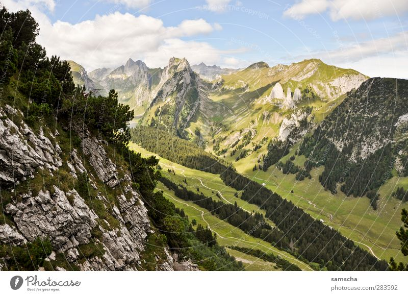 Nature Vacation & Travel Landscape Mountain Movement Stone Rock Contentment Tall Large Adventure Elements Peak Hill Alps Snowcapped peak