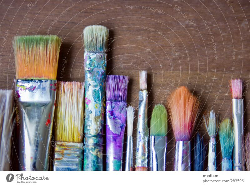 Colour Art Design Esthetic Creativity Illustration Painting and drawing (object) Draw Artist Paintbrush Work of art Painter Workshop Culture Atelier Watercolors