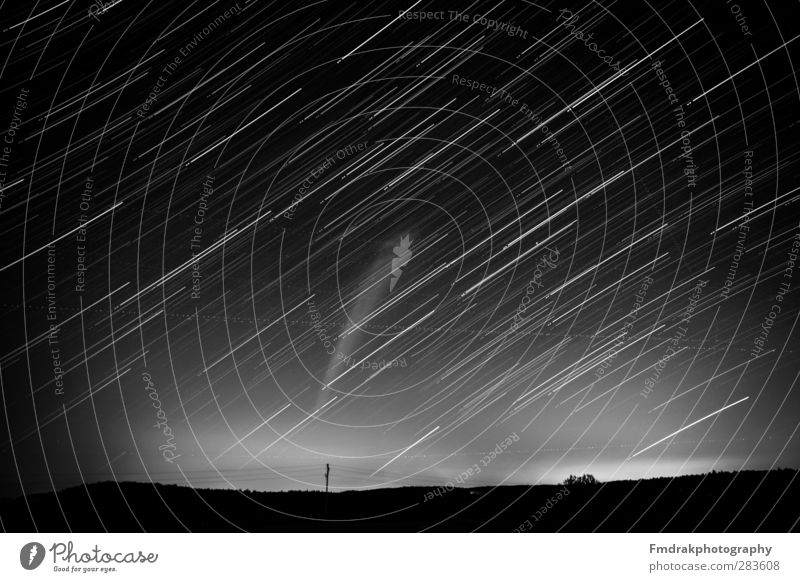 50 Minutes of Startrails Environment Nature Landscape Sky Cloudless sky Night sky Stars Horizon Weather Observe Glittering Illuminate Looking Astrophotography
