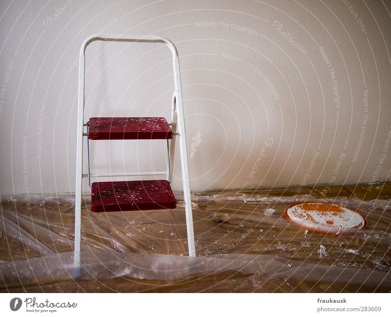 Dye Work and employment Flat (apartment) Living or residing Painting (action, work) Moving (to change residence) Ladder Painter Redecorate Covers (Construction)