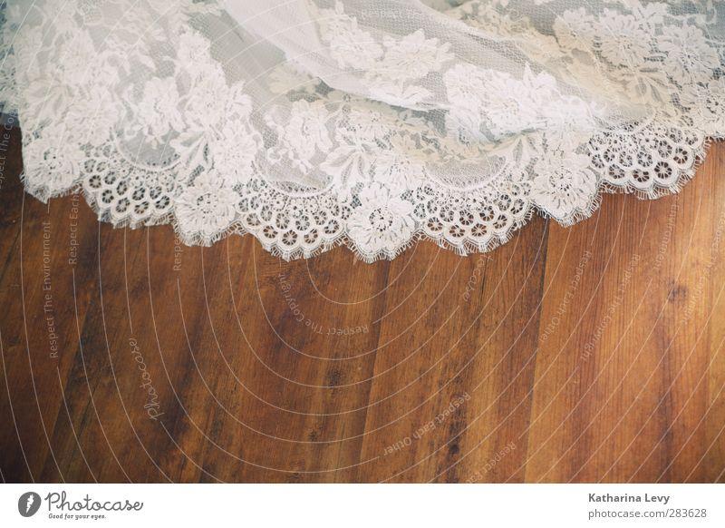Human being Beautiful White Feminine Happy Style Fashion Brown Elegant Wedding Floor covering Dress Cloth Luxury Lace Bride