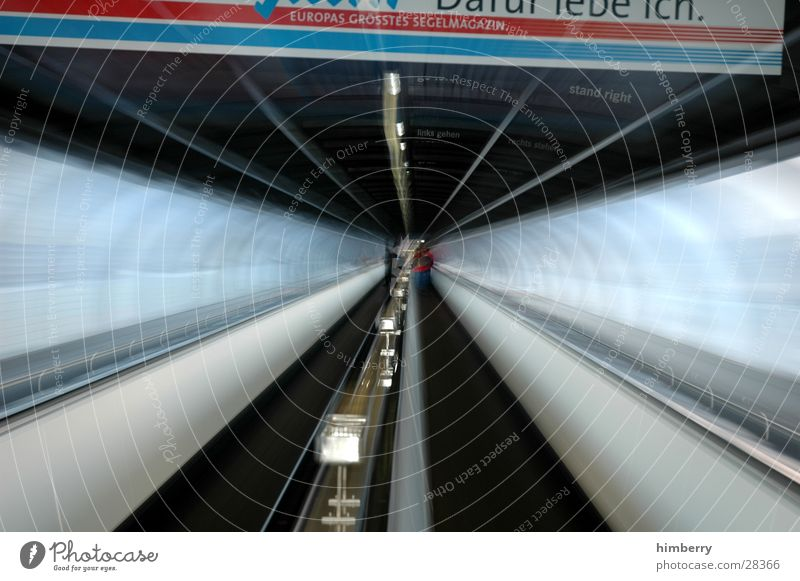 zooming in Zoom effect Tunnel Channel Pipe Movement Moving pavement Architecture Time travel Trip Exit route Escape route Logistics Long exposure Transport
