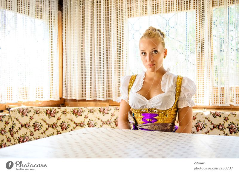 munich grantlerin Elegant Style Oktoberfest Fairs & Carnivals Feminine Young woman Youth (Young adults) 18 - 30 years Adults Piercing Blonde Old Sit Esthetic