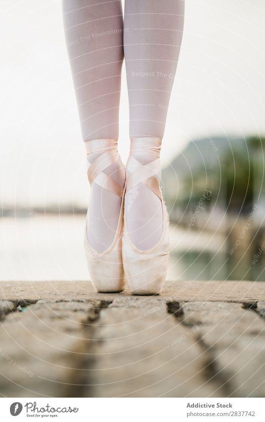 Crop female feet in ballet shoes Feet Ballet shoe Dancer Woman Performance Town String Elegant Victoria & Albert Waterfront Practice Art City Footwear Legs
