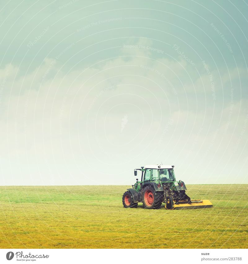 Trek across country Summer Work and employment Agriculture Forestry Machinery Technology Environment Nature Landscape Earth Sky Horizon Beautiful weather Grass