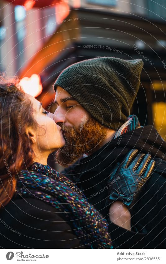 Couple standing on street Street Happy City Human being Vacation & Travel Tourism Love Happiness Relationship Cheerful Youth (Young adults) Man Woman Romance 2