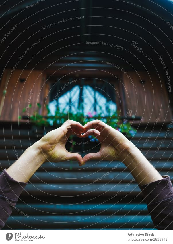 Person gesturing heart at window Hand Heart Window Indicate Love Symbols and metaphors Gesture Structures and shapes Sign romantic Romance Human being valentine