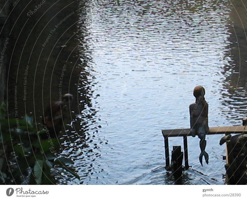 Water Loneliness Romance Religion and faith Mythology Mermaid Blue tone