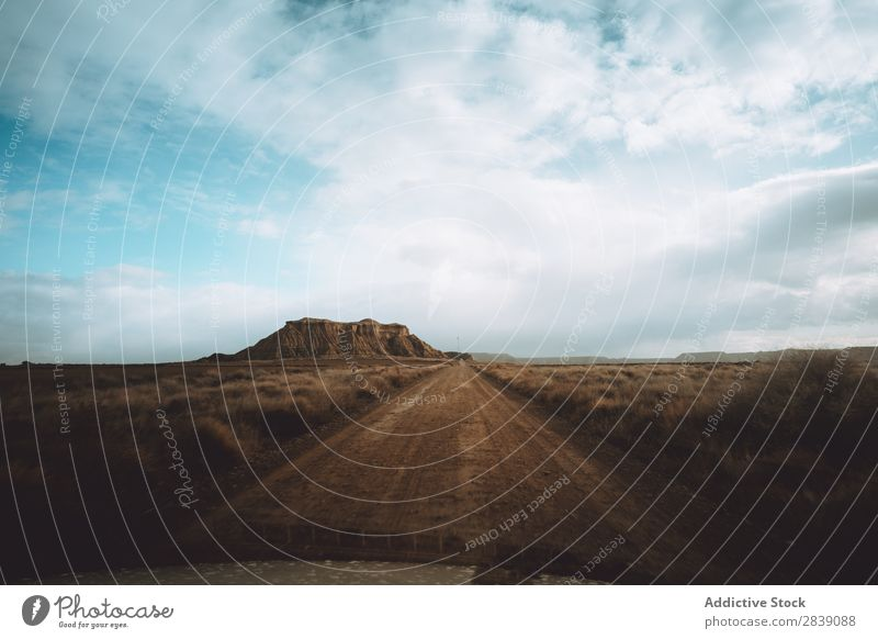Road view from a car Hill Mountain Nature Street Dry Car Dashboard Vantage point Perspective Landscape Vacation & Travel Desert Landing Grass Sand Ground