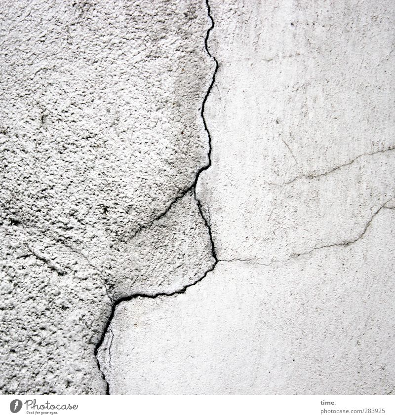 Old man, looking into the distance Wall (barrier) Wall (building) Seam Crack & Rip & Tear Stone Concrete Uniqueness Broken Town Gray Accuracy Fiasco Adversity