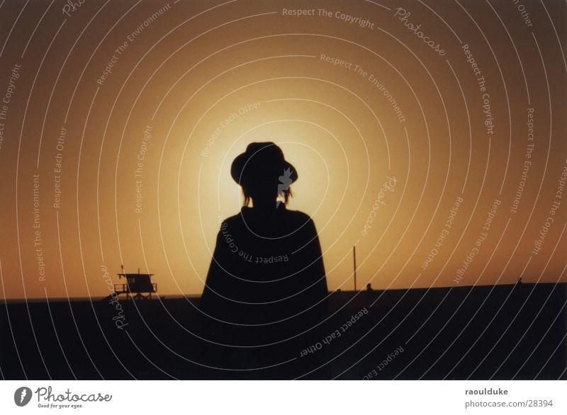 SantaBarbara, CA Back-light California Beach Sunset Woman USA