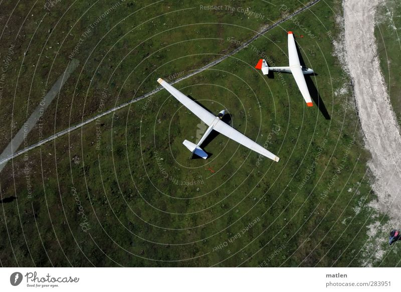 belly landing Trip Sports Landscape Grass Meadow Mountain Means of transport Traffic infrastructure Lanes & trails Road junction Aviation Airplane Two-seater