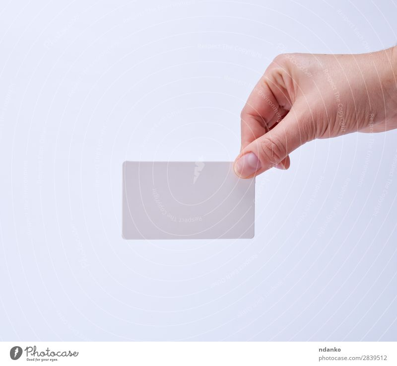 empty white paper business card Business Human being Woman Adults Arm Hand Fingers 1 18 - 30 years Youth (Young adults) Paper To hold on White