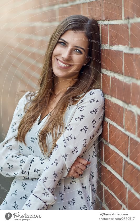 Attractive young woman with a lovely natural smile Lifestyle Joy Happy Beautiful Face Woman Adults 1 Human being 18 - 30 years Youth (Young adults) Nature