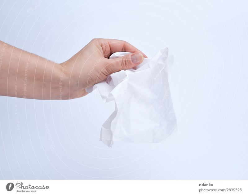 female hand holding a clean white paper napkin Body Skin Doctor Human being Woman Adults Arm Hand Fingers 1 18 - 30 years Youth (Young adults) Paper To hold on