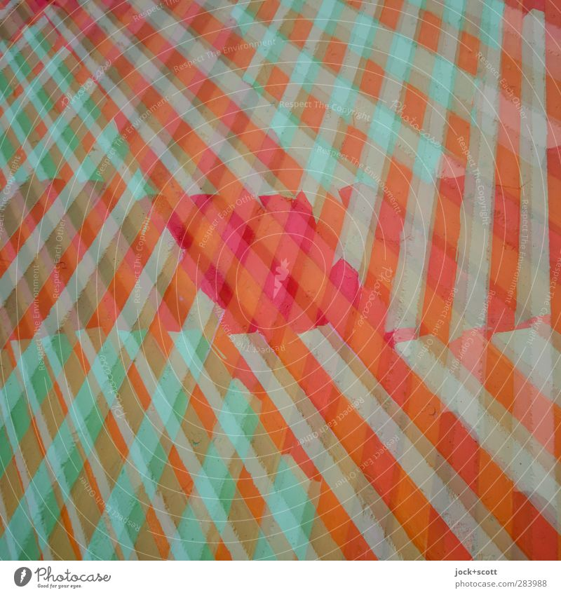KuddelMuddel Style Design Illustration Decoration Concrete Stripe Esthetic Agreed Creativity Diagonal Double exposure Muddled Illusion Reaction Play of colours