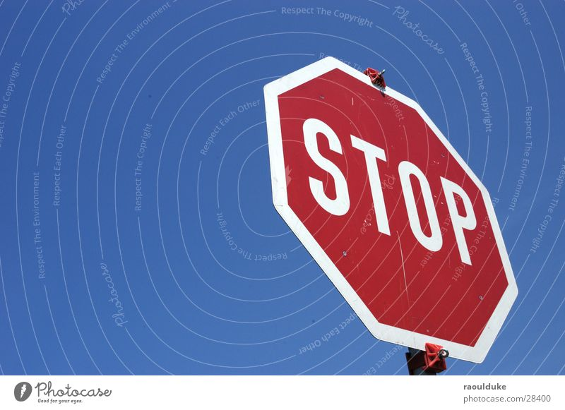 Stop it now Stop sign Road sign Transport Sky Mixture Street Perspective