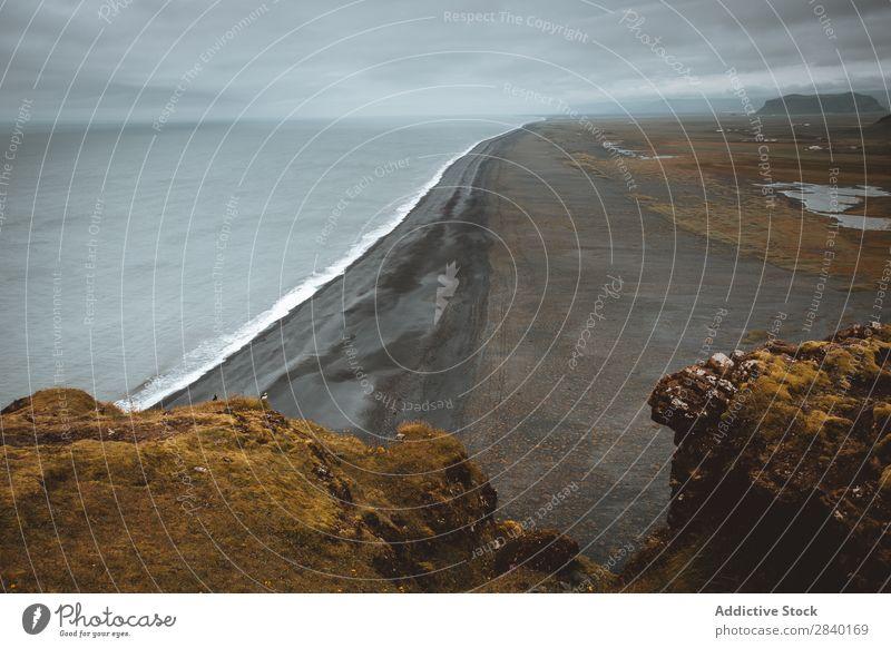 Dyrholaey, Iceland dyrholaey reynisfjara Landscape Island Mountain Vacation & Travel Coast Atlantic Ocean Rock Black seascape Volcanic Beach Cliff Sand Basalt