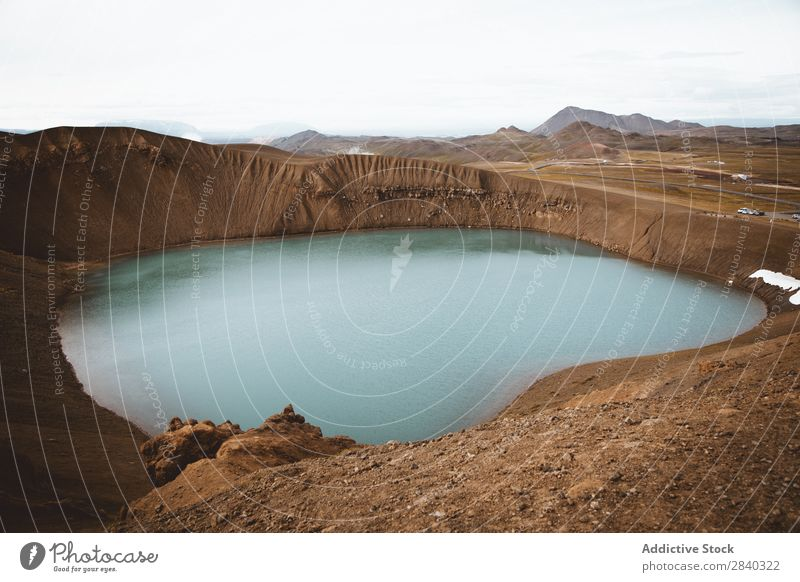 Viti Volcano Area Blue Caldera Volcanic crater Deep Famous building Geology Geothermy Vacation & Travel Hot Iceland icelandic Krafla Lake Landmark Landscape