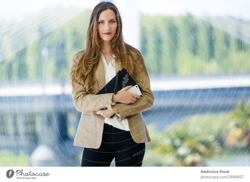 Beautiful young businesswoman looking at camera. Woman Modern Youth (Young adults) Businesswoman Clothing Attractive Collar Adults occupation 1 Caucasian