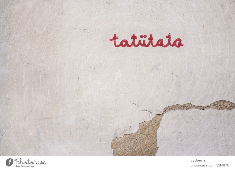 tatütata Wall (barrier) Wall (building) Characters Graffiti Design Loneliness Uniqueness Discover Expectation Freedom Threat Idea Communicate Creativity Life