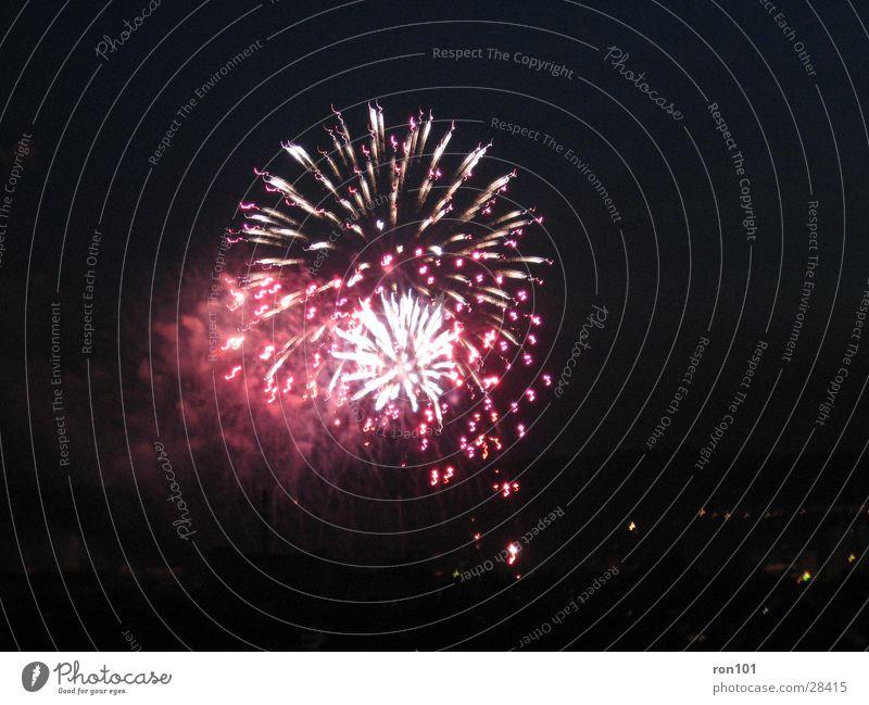 fireworks rocket Red Black Dark Night Explosion Long exposure racketeered