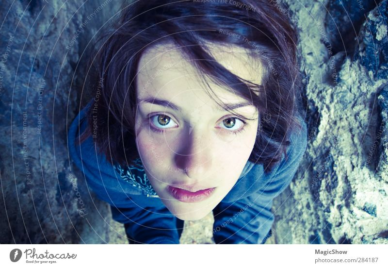 Human being Youth (Young adults) Blue Beautiful Face Adults 18 - 30 years Eyes Feminine Healthy Bright Dream Authentic 13 - 18 years Esthetic Uniqueness