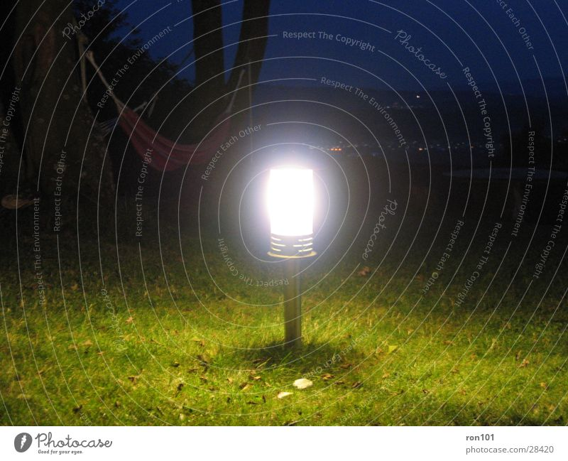 Light in the dark Lamp Dark Meadow Green Blue Leisure and hobbies Bright Light (Natural Phenomenon)
