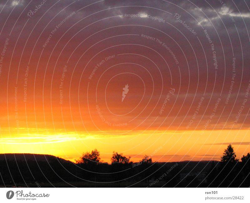 swiss sunset I Sunset Clouds Red Sky Blue Orange