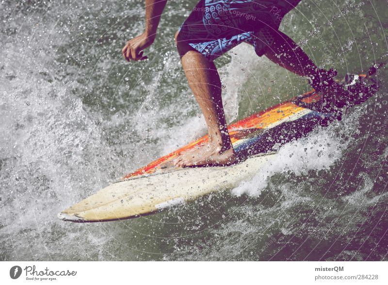 Vacation & Travel Joy Sports Lifestyle Art Exceptional Freedom Feet Leisure and hobbies Waves Modern Esthetic Joie de vivre (Vitality) Youth culture Adventure