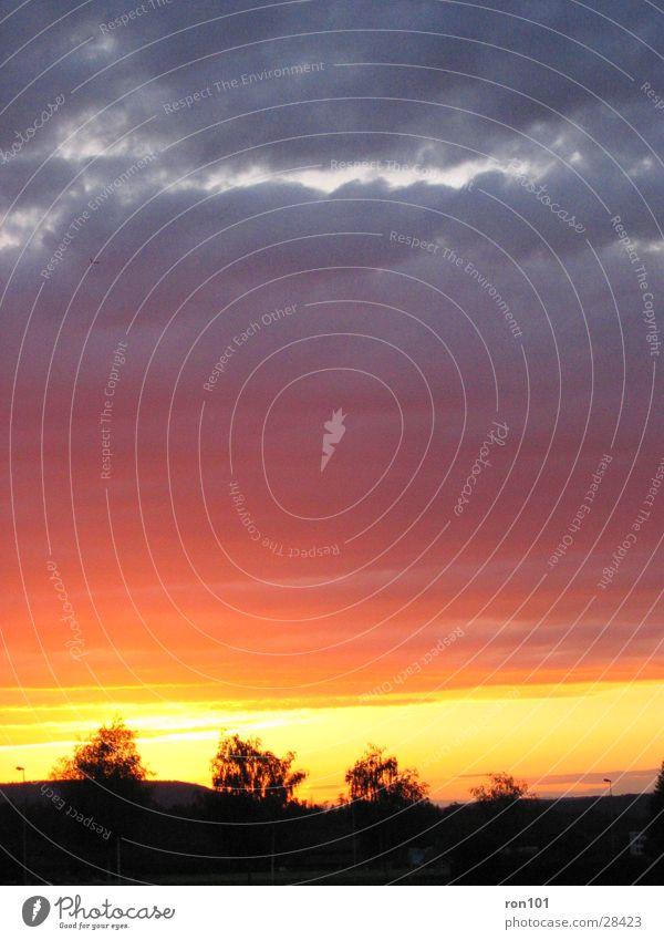 swiss sunset II Sunset Clouds Red Sky Blue Orange