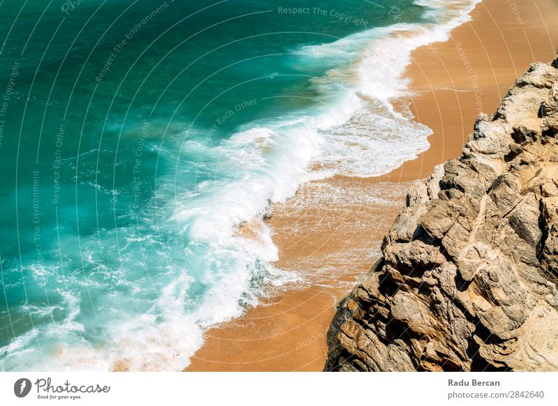 Ocean Waves Crushing On Beautiful Beach Shore Vacation & Travel Tourism Summer Summer vacation Sun Island Nature Landscape Sand Water Beautiful weather Rock