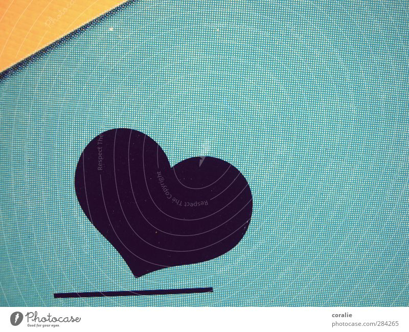 Blue City Black Yellow Love Wall (building) Wall (barrier) Art Line Facade Heart Modern Corner Simple Round Retro